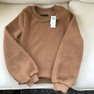 Camel Sherpa Sweater